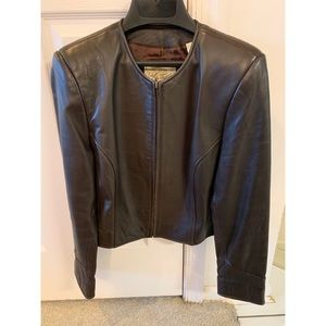 Lord & Taylor Real Authentic Brown Leather Jacket